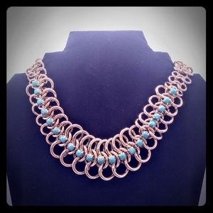 Vintage Aldo Chainmail Choker Statement Necklace